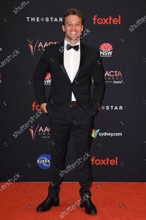 Lincoln Lewis arrives at the 2019 Australian Academy of Cinema and Television Arts Awards in Sydney, Australia, 04 December 2019.
