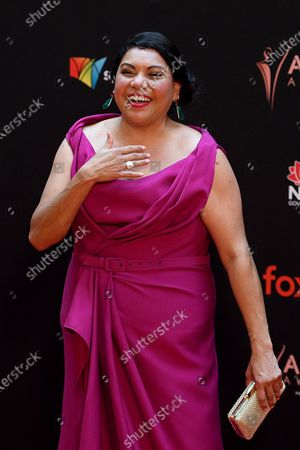 Stock Picture of Deborah Mailman arrives at the 2019 Australian Academy of Cinema and Television Arts Awards in Sydney, Australia, 04 December 2019.