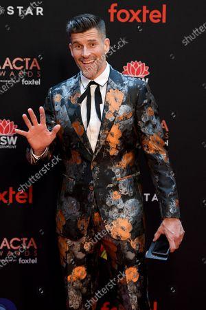 Stock Photo of Australian television presenter Osher Gunsberg arrives at the 2019 Australian Academy of Cinema and Television Arts Awards in Sydney, Australia, 04 December 2019.