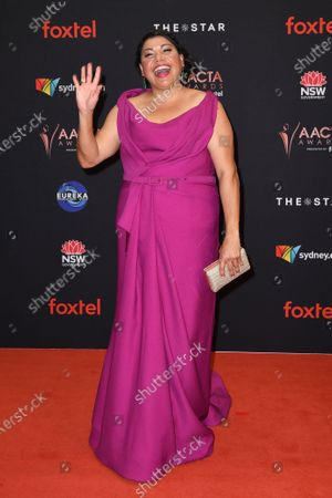 Deborah Mailman arrives at the 2019 Australian Academy of Cinema and Television Arts Awards in Sydney, Australia, 04 December 2019.