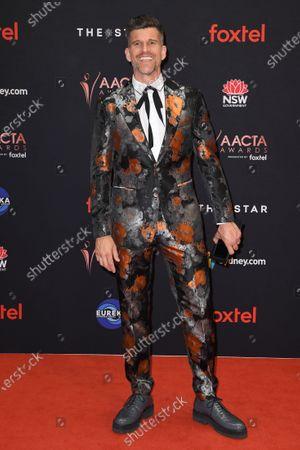 Stock Image of Australian television presenter Osher Gunsberg arrives at the 2019 Australian Academy of Cinema and Television Arts Awards in Sydney, Australia, 04 December 2019.