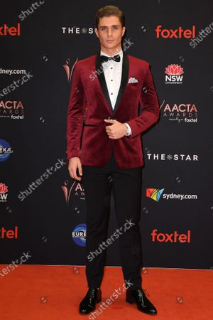 Stock Photo of Alex Cubis arrives at the 2019 Australian Academy of Cinema and Television Arts Awards in Sydney, Australia, 04 December 2019.