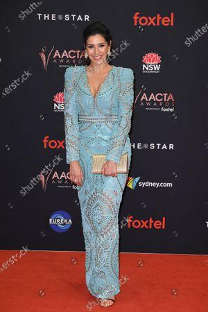 Nicole Chamoun arrives at the 2019 Australian Academy of Cinema and Television Arts Awards in Sydney, Australia, 04 December 2019.