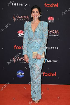 Stock Picture of Nicole Chamoun arrives at the 2019 Australian Academy of Cinema and Television Arts Awards in Sydney, Australia, 04 December 2019.