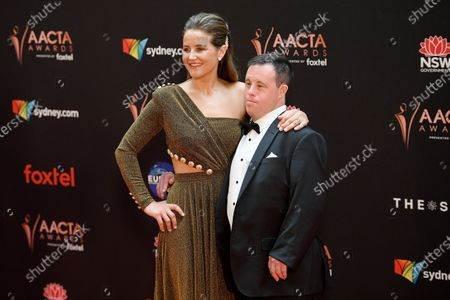 Stock Image of Australian jockey Michelle Payne and brother Stevie arrive at the 2019 Australian Academy of Cinema and Television Arts Awards in Sydney, Australia, 04 December 2019.