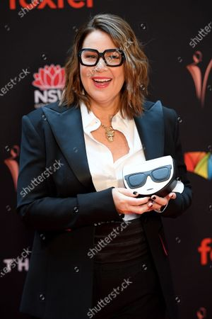 Julia Morris arrives at the 2019 Australian Academy of Cinema and Television Arts Awards in Sydney, Australia, 04 December 2019.