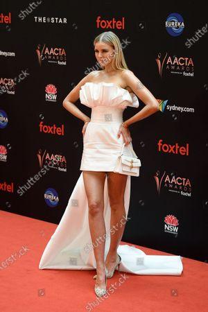Stock Photo of Tegan Martin arrives at the 2019 Australian Academy of Cinema and Television Arts Awards in Sydney, Australia, 04 December 2019.