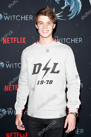 Colin Ford poses for photographers during a photocall for Netflix's 'The Witcher' Season 1 at The Egyptian Theatre Hollywood in Los Angeles, USA, 03 December 2019.