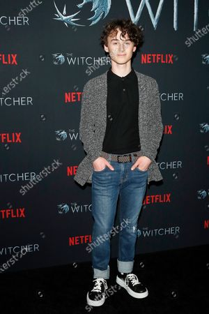 Wyatt Oleff poses for photographers during a photocall for Netflix's 'The Witcher' Season 1 at The Egyptian Theatre Hollywood in Los Angeles, USA, 03 December 2019.