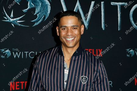 Charlie Barnett poses for photographers during a photocall for Netflix's 'The Witcher' Season 1 at The Egyptian Theatre Hollywood in Los Angeles, USA, 03 December 2019.