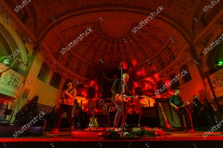 Stock Picture of Ride - (L-R) Andy Bell, Loz Colbert (drums), Mark Gardener, Steve Queralt (bass)
