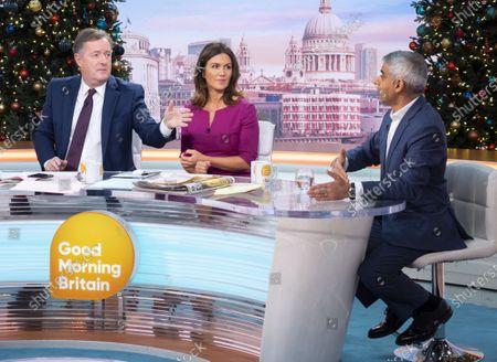 Editorial photo of 'Good Morning Britain' TV show, London, UK - 04 Dec 2019