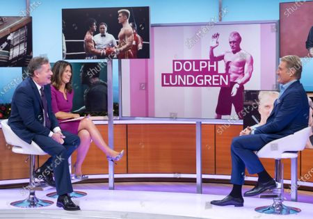 Piers Morgan and Susanna Reid with Dolph Lundgren