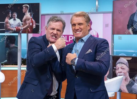 Stock Image of Piers Morgan and Dolph Lundgren