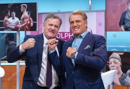 Piers Morgan and Dolph Lundgren