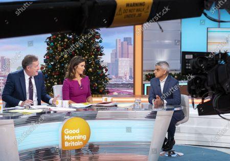 Piers Morgan, Susanna Reid and Sadiq Khan