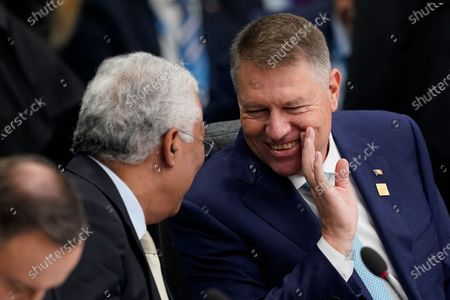 President of Romania Klaus Iohannis (R) and Portuguese Prime Minister Antonio Costa (L) during NATO Summit in London, Britain, 04 December 2019. NATO countries' heads of states and governments gather in London for a two-day meeting.