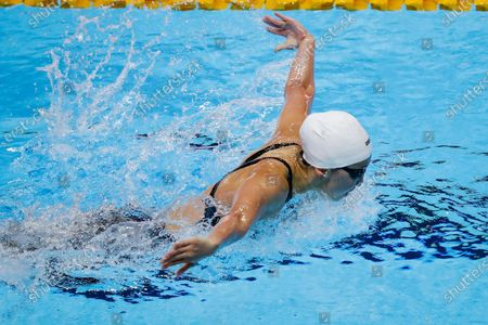 Jing Wen Quah of Singapore in action during the women's 200m Butterfly finals of the Southeast Asian (SEA) Games at the New Clark City Aquatics Center in Capas, Tarlac province, Philippines, 04 December 2019.