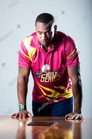 Stock Photo of Jamaican sprinter Yohan Blake poses during a profile shoot at Hindustan Times Mumbai office