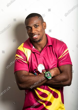 Stock Image of Jamaican sprinter Yohan Blake poses during a profile shoot at Hindustan Times Mumbai office