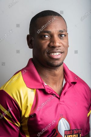 Jamaican sprinter Yohan Blake poses during a profile shoot at Hindustan Times Mumbai office