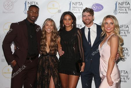 Stock Photo of Yamen Sanders, Alexandra Stewart, Kyra Green, Cash Barnett, Mallory Santic Of Love Island USA