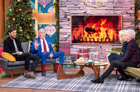 Stock Image of Phillip Schofield and Holly Willoughby with Jack Whitehall and Michael Whitehall