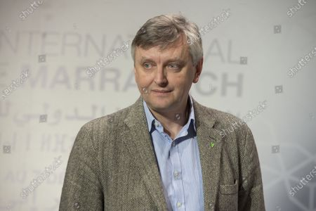 Sergei Loznitsa attends the 'conversation with Joel Chapron' event during the 18th edition of the Marrakech International Film Festival, in Marrakech, Morocco, 04 December 2019. The film festival runs from 29 November to 07 December 2019.