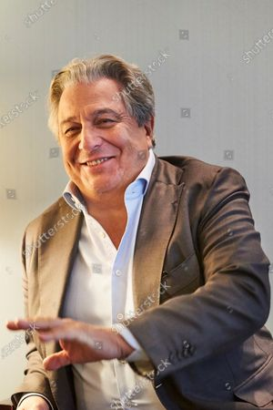 Stock Image of Christian Clavier poses for the media during the premiere of his the 'Qu'est-ce qu'on a fait au Bon Dieu?' (lit. What Have We Done To God? ... Now) in Barcelona, Catalonia, Spain, 04 December 2019.