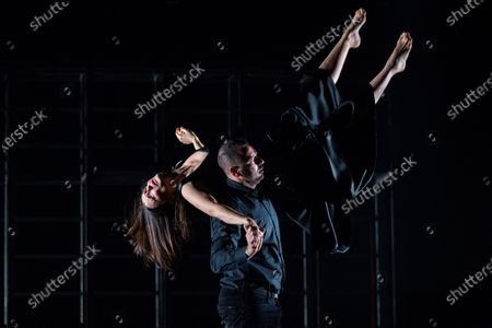Aitana Sanchez Gijon (L) and actor Chevi Mudaray (R) perform during a rehearsal of the play 'Juana' (lit. Joan) at Espanol Theater in Madrid, Spain, 04 December 2019. The play represents the stories of Joan of Arch, Sister Joan Agnes of the Cross, Pope Joan, and Johanna the Mad through the texts written by Juan Carlos Rubio, Marina Seresesky and Clarice Lispector. The play will be premiered next 20 December 2019.