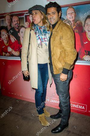 Stock Photo of Melissa Theuriau and Jamel Debbouze