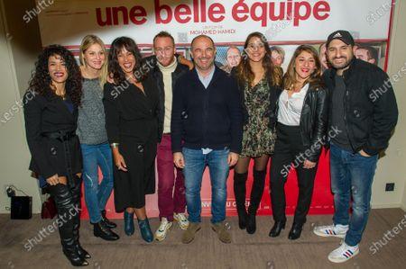 Sabrina Ouazani, Corine Petit, Alexandra Roth, guest, Mohamed Hamidi, Manika Auxire, guest, Ibrahim Maalouf
