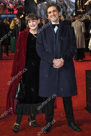 Stock Image of Heidi Thomas and Stephen McGann