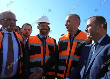 Nikolay Mladenov, United Nations Special Coordinator for the Middle East Peace Process, arrives in Gaza to open the second and third phase of the desalination plant in Deir al-Balah central of Gaza Strip