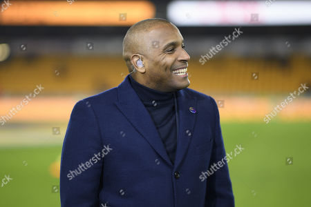 Clinton Morrison prior to commentating on the Amazon Prime video channel.