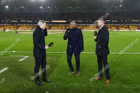 Stock Image of Matt Smith, Clinton Morrison and Matt Upson prior to commentating on the Amazon Prime video channel.