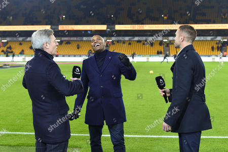 Stock Picture of Matt Smith, Clinton Morrison and Matt Upson prior to commentating on the Amazon Prime video channel.