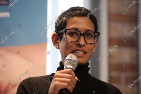 Naga Munchetty chaired a panel at the Brexit and British voters conference, The UK in a Changing Europe