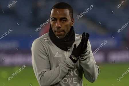 Ricardo Pereira (21) warming up before the Premier League match between Leicester City and Watford at the King Power Stadium, Leicester