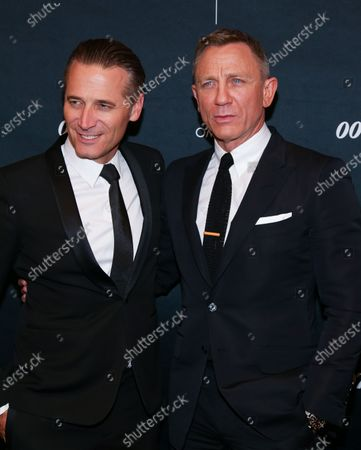 Editorial image of Worldwide debut of the new OMEGA James Bond watch, New York, USA - 04 Dec 2019