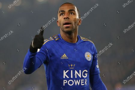 Stock Image of Ricardo Pereira (21) of Leicester City.  during the Premier League match between Leicester City and Watford at the King Power Stadium, Leicester