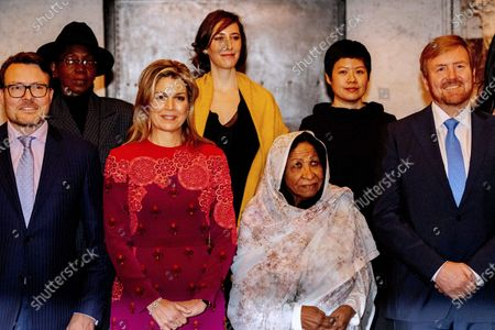Dutch King Willem-Alexander (R), Queen Maxima (3-R) and Prince Laurentien (L)attend the presentation of the Grand Prince Claus Award 2019 to visual artist Kamala Ibrahim Ishag (C) from Sudan, in Amsterdam, The Netherlands, 04 December 2019.