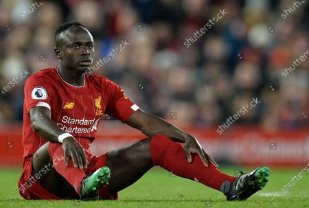 Sadio Mane of Liverpool during the English Premier League soccer match between Liverpool FC and Everton in Liverpool, Britain, 04 December 2019.