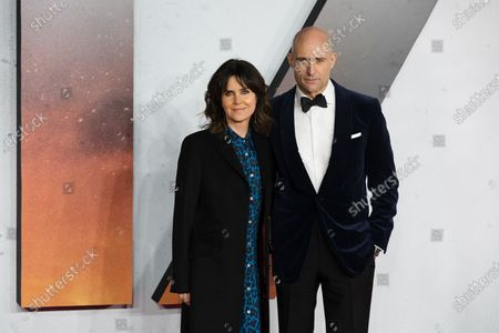 Mark Strong (R) and his wife Liza Marshall (L) attend the world premiere of '1917' in London, Britain, 04 December 2019. The film is scheduled to be released in British theaters on 10 January 2020.