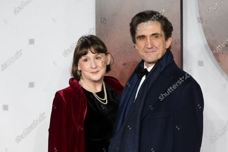Stephen McGann (R) and his wife Heidi Thomas (L) attend the world premiere of '1917' in London, Britain, 04 December 2019. The film is scheduled to be released in British theaters on 10 January 2020.