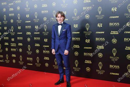 Real Madrid's Croatian midfielder and last year's Ballon d'Or Luka Modric poses