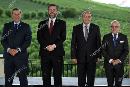 The foreign ministers (L-R) of Uruguay, Rodolfo Nin Novoa; from Brazil, Ernesto Araujo; from Paraguay, Antonio Rivas, and from Argentina, Jorge Faurie, pose for the official photo of the meeting of the Common Market Council (CMC), within the activities of the Mercosur summit , in Bento Goncalves, Brazil, 04 December 2019. The foreign ministers meeting precedes the summit that will bring together on 05 December the presidents of Argentina, Mauricio Macri, and Paraguay, Mario Abdo Benitez, and the Uruguayan Vice President, Lucia Topolansky, together with host president Jair Bolsonaro, in the Brazilian city of Bento Goncalves.