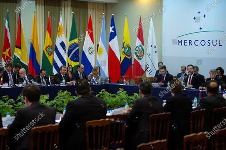 General view of the meeting of foreign ministers of the Common Market Council (CMC), within the activities of the Mercosur summit, in Bento Goncalves, Brazil, 04 December 2019. The foreign ministers meeting precedes the summit that will bring together on 05 December the presidents of Argentina, Mauricio Macri, and Paraguay, Mario Abdo Benitez, and the Uruguayan Vice President, Lucia Topolansky, together with host president Jair Bolsonaro, in the Brazilian city of Bento Goncalves.