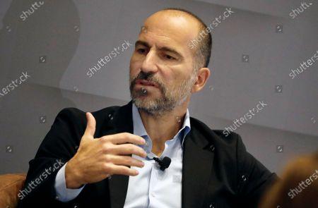 Stock Picture of Uber CEO Dara Khosrowshahi speaks