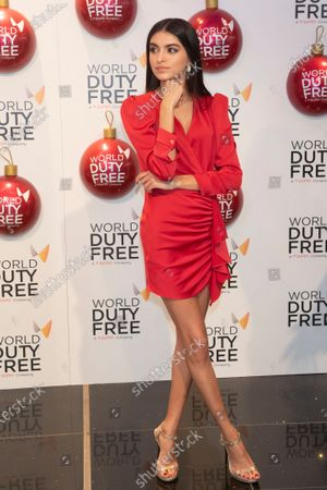 Lucia Rivera switched on the Christmas tree at the World Duty Free shop into de International area of the Madrid-Barajas Adolfo Suarez Airport